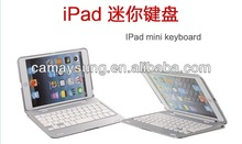For iPad mini ultrthin Aluminum Alloy Wireless Bluetooth Holder Stand Dock Keyboard Case Cover M9