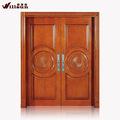 de lujo de madera maciza puerta de entrada de doble puerta de madera precio