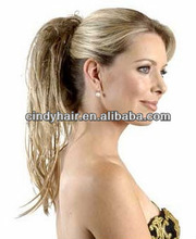Innocent natural straight silk top high ponytail full lace wigs
