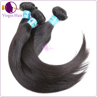 Excellent unprocessed remy human hair weave virgin brazilian straight hair