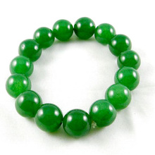 A Grade Green Agate Beads Stretchable Bracelet