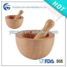 hot selling customized wood mortar and pestle