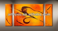 Simple picture of abstract oil painting on canvas
