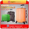 Lightweight Custom Black And White Leaves Printing Spinner Hardside Luggage Vintage Style Suitcase