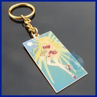 Sailor moon gold metal keychain china supplier/new 2014 custom metal die cut keychains