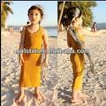 Dernière mode enfants beau modèle robes fille sexy de coton robe de plage d'été
