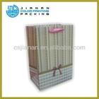 2014 hot sale JIANAN brown kraft paper bag with jute handle