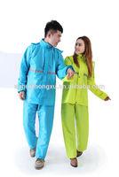 seasons adult outdoor waterproof economical pvc raincoat rainsuit reflective 3m tape breathable bicycle, motorcycle