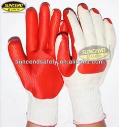 Heavy duty work glovesBleach White Natural laminated rubber work glove, laminated latex glove, laminated rubber latex gloveLUVAS