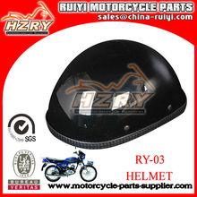 Hot Sale Black Leather German Style Motorcycle Helmet For Sale Safety Helmet