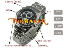 HD 720P MINI Sport DVR Long time recording Waterproof wrist watch hidden camera