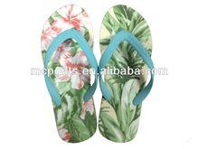 Ladies digital printed logo EVA slippers/flip flop 2014