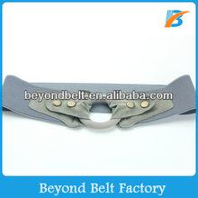 Women's Wide Elastic Stretch Waist Belt with Snap Buckle