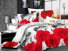 2015 new hot sex Bedding set 3d light color wholesale 3d bedding sets red & white storm