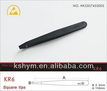 esd plastic tweezers/Conductive fiber plastic tweezers