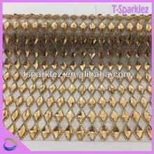 fancy dress accessories wholesale Hot Fix Rhinestone Net Mesh