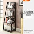 cheap wooden modern corner bookcases design