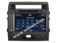 WITSON TOYOTA LAND CRUISER 200 CAR DVD MONITOR WITH 1.6GHZ FREQUENCY A9 DUAL CORE CHIPSET BLUETOOTH GPS WIFI 3G