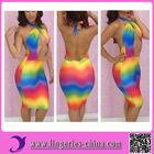 2014 Women Rainbow Bandage Dress Cheap