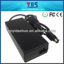 laptop adapter for To 15V 5A 75W notebook computer,round 4 pin with CE&RoHS PCB airplane laptop power adapter with YDS