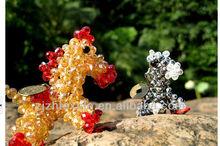 horse hand made mini acystal keychain toys