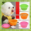 100% Food Grade collapsible microwave safe silicone rubber bowls or silicone pets bowls