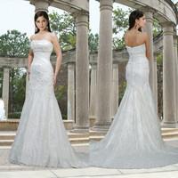 2014 new designer crystal lace ghana wedding dresses