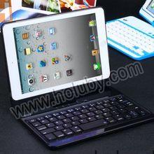 For iPad Mini Bluetooth Keyboard Side Flip Hard Case, Removeable Flip Hard PC Bluetooth Keyboard Case For iPad Mini