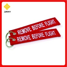 Customized remove before flight keychain
