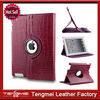 Rotating pu leather crocodile folding folio case cover for ipad mini