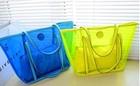 2014 wholesale fashion transparent waterproof clear pvc beach bag / pvc shopping bag sets