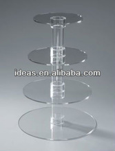 2014 hot sale high quality acrylic cake stands cakes/acrylic wedding cake stands/acrylic cake display stand
