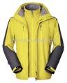 Мужская 3-в-1 2014 Зимняя куртка водонепроницаемая дышащая ветрозащитная