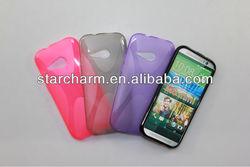 x-line tpu soft gel case cover for htc one m8 mini