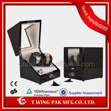 Luxury handmade one rotor black wooden watch display cabinet