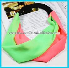 Custom girls fabric fashion headtied headbands