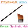 Black Wood Handle Nylon hair Angled Makeup Eyebrow Brush with Free Sample in Stock Makeup Brush