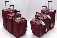 stock 1680D nylon 3pcs trolley travel bag