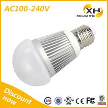 Factory price 480 lumen led bulb light e27 led / 5w white led bulb light