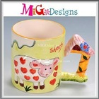 hot sales 3d kids personalized plastic mugs nice design