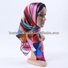 2014 ingrosso sciarpe moda arcobaleno colorato disegni più recenti hijab
