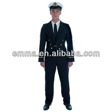 Mens 1940'S Ww2 Naval Officer Fancy Dress Costume airline pilot uniformBM476