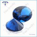 precio de venta al por mayor ovalada de color azul profundo spinel suelto de piedras preciosas