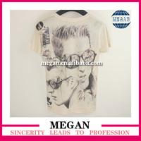 2014 new hot t-shirt tiger printed