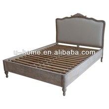 Vintage Upholstered Queen Bed (H8101)
