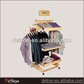 2014 nova loja de roupa de madeira prateleira de exposição