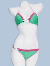 rhinestone bikinis with twist push up top