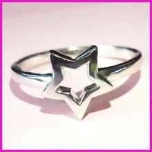 wholesale fashion star ring jewellery_silver star ring_mini star ring in rhodium plating