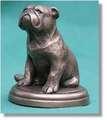 cane statua di bronzo