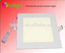 New design super thin wifi downlight+rf remote control+wifi smartphone control 2 years warranty color temperature led downlight